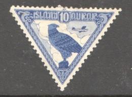 1930  Millénaire De L'Islande  - Faucon Et Avion * - Poste Aérienne