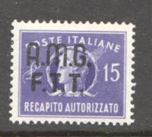 1949  Recapito Autorizzato  Sass 3  * - Paketmarken/Konzessionen