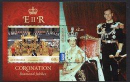 AUSTRALIA, 2013 CORONATION ANNIVERSARY MINISHEET MNH - 2010-... Elizabeth II