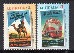 AUSTRALIA, 2017 TRANS AUSTRALIAN RAILWAY 2  MNH - 2010-... Elizabeth II