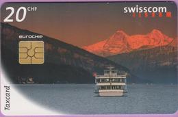 Télécarte Suisse °° SE.37. Circuler Bateau - 20CHF - Gem2 - R. - Suisse