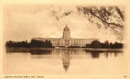 Sepia Illustrated Postcard   Legislative Building, Regina Sask  #401    Unused - 1903-1954 Reyes