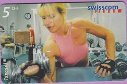 Télécarte Suisse °° SE.86. Fitness - 5CHF - Gem8 - 12.2000 R. - Suisse