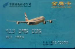 China Airlines Cards , China Southwest Airlines (1pcs) - China