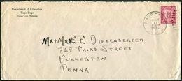American Samoa 1930 PAGO PAGO Pmk Department Of Education Commercial Cover > USA - Samoa Américaine