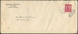 American Samoa 1931 PAGO PAGO Pmk Department Of Education Commercial Cover > USA - American Samoa
