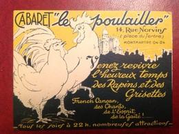 Cabaret Le Poulailler Montmartre French Cancan - Publicités