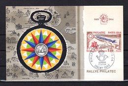 """"""" PHILATEC / RALLYE PHILATEC LONGWY-PARIS """" Sur Carte Maximum De 1964. N° YT 1422. Parfait état. CM - 1960-69"""