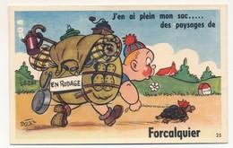 CPSM à Système - FORCALQUIER (Basses Alpes) - J'en Ai Plein Mon Sac Des Paysages De Forcalquier - Vues Accordéon - Forcalquier