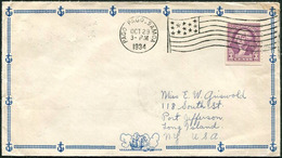 American Samoa 1934 PAGO PAGO Pmk Machine FLAG Cancel Pictorial Cover Anchor Sailing Ship Segelschiff Voilier Velero>USA - Samoa Américaine
