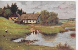 AK 0113  Klimes , B. - Am Teiche/  Künstlerkarte Um 1916 - Malerei & Gemälde