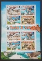 DE23 - Turks And Caicos Birds WWF Red-tailed Hawk Sheetlet Of 2 Sets MNH SG#MS1974 - Turks And Caicos