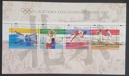 DE23 - POLAND 2008 MNH Block S/S Souvenir Sheet, Olympic Games Beijing China - 1944-.... Republic