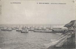 Port-en-bessin (Calvados) - Avant-Port Et Poissonnerie, Barques De Pêche - Carte La C.P.A. Dos Simple, Non Circulée - Port-en-Bessin-Huppain
