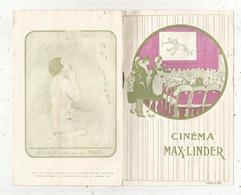 Programme CINEMA MAX-LINDER ,1920 , 8 Pages ,24 Bld. Poissonnière, Paris , 3 Scans,  Frais Fr 1.75 E - Programmes