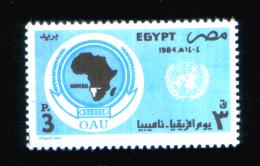 EGYPT / 1984 / UN / OAU / AFRICA DAY / NAMIBIA / MAP / MNH / VF. - Egypt