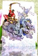 """Russische Volksmärchen """"Nikita Der Gerber""""/ Dragon Bogatyr Kunst Moderne Russische Postkarte Von Kochergin - Fairy Tales, Popular Stories & Legends"""