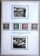 DR Turn- Und Sportfest Breslau Mi.Nr. 665-668 Ungebraucht * Auf Selbstgestaltem Sammlerblatt Foto Sport - Deutschland
