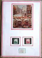 DR Reichsparteitag 1936 Mi.Nr. 632,633 Ungebraucht * Auf Selbstgestaltetem Sammlerblatt Foto Soldatenparade - Deutschland