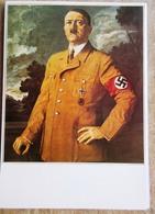 DR Adolf Hitler Portät Auf Selbstgestaltetem Sammlerblatt Foto Hitler In Parteiuniform - Deutschland
