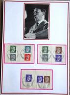 DR Hitler 5 ZD Auf Briefstücken Mit SST Auf Selbstgestaltetem Sammlerblatt Foto Adolf Hitler - Deutschland