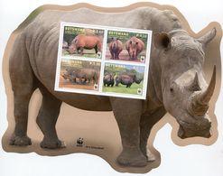 DE23 - BOTSWANA 2011 LARGE Souvenir Sheet S/S Block -  SOUTHERN WITHE RHINOCEROS WILD ANIMAL FAUNA - Botswana (1966-...)