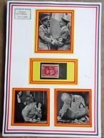 DR Hitler Mi. Nr. 763 Postfrisch ** Auf Selbstgestaltetem Sammlerblatt Foto Adolf Hitler Und Mussolini - Deutschland
