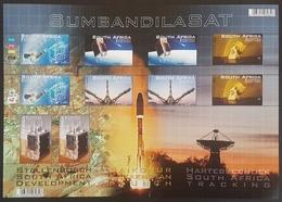 DE23 - SOUTH AFRICA - 2011 SUMBANDILASAT / SATELLITE / SPACE - LARGE Souvenir Sheet S/S Block - MNH - Unused Stamps