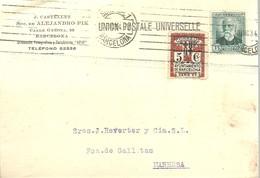 TARJETA  1934 POSTAL  SELLO AYUNTAMIENTO - 1931-Hoy: 2ª República - ... Juan Carlos I