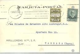 TARJETA POSTAL   1932  SELLO AYUNTAMIENTO - 1931-Hoy: 2ª República - ... Juan Carlos I