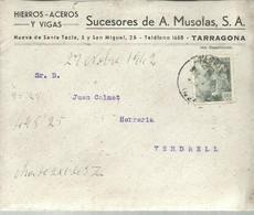 CARTA COMERCIAL  1942  TARRAGONA - 1931-Hoy: 2ª República - ... Juan Carlos I