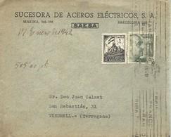 CARTA COMERCIAL  1942  BARCELONA - 1931-Hoy: 2ª República - ... Juan Carlos I