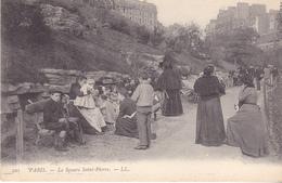 BAD- PARIS LE SQUARE SAIN PIERRE  CPA  ANIMEE - Places, Squares