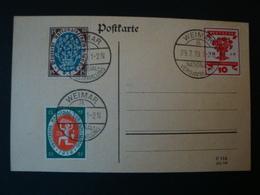 Deutsches Reich Postkarte Mi.-Nr. 107/9 Mit Tagesstempel, Weimar Nationalversammlung 29.7.19 - Germania