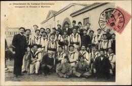 Cp Mytiléne Griechenland, Détachement Du Cuirassé Charlemagne, Occupangt La Douane, Gruppenbild - Grèce