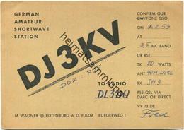 QSL - Funkkarte - DJ3KV - Rotenburg A. D. Fulda - 1959 - Amateurfunk