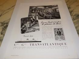 ANCIENNE PUBLICITE PAQUEBOT LIBERTE TRANSATLANTIQUE 1955 - Publicités