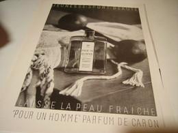 ANCIENNE PUBLICITE PARFUM POUR UN HOMME DE CARON 1955 - Parfums & Beauté
