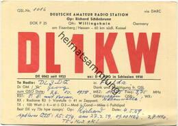 QSL - Funkkarte - DL1KW - Willingshain - 1958 - Amateurfunk