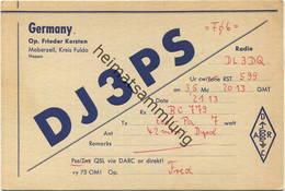 QSL - Funkkarte - DJ3PS - Fulda-Maberzell - Ca. 1960 - Amateurfunk