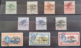 Bahamas  1942 450th. Anniv.of The Discovery Of America By Columbus  LOT USED - West Indies