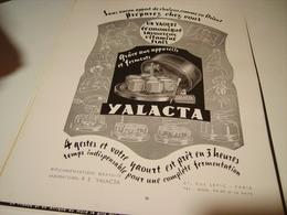 ANCIENNE PUBLICITE PREPÄREZ DES YAOURT AVEC YALACTA 1955 - Affiches