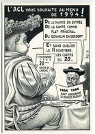 VEYRI - Carte De Voeux De L'Association ACL 1994  François RABELAIS  - Tirage Limité - Voir Scan - Veyri, Bernard