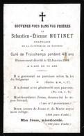 Faire-part De Décès - Mémento - Abbé Sébastien-Etienne Hutinet - Langres & Troischamps (52) - 22 Janvier 1891 - Décès