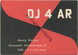 QSL - Funkkarte - DJ4AR - Darmstadt - 1959 - Amateurfunk
