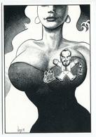 """VEYRI - Carte Personnelle J.Michel Rivière  1991 """"Mona-Lisa - Pin's""""   - Tirage Limité - Voir Scan - Veyri, Bernard"""