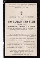 Faire-part De Décès - Mémento - Abbé J.B.S. Meusy - Saulxures Avrecourt Récourt Perrancey (52) - 21 Juillet 1899 - Décès