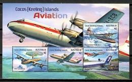 Cocos Islands 2017 Australia / Aviation Airplanes MNH Aviacion Aviones Luftfahrt / Cu10535  4 - Aviones