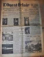 Rare Journal L'Ouest-éclair Du 5 Juillet 1940 - 1939-45
