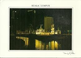 "Kuala Lumpur (Malaysia) The Masjid Jame By Night, Mosque, Moschea Indiana Notturno, Thematic Stamp ""Piala Dunia Golf 99"" - Malesia"